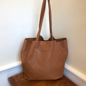 Jack Wills Brown Leather Tote